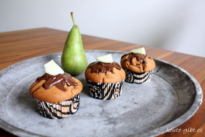 Birnen-Schoko-Muffins