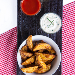 Potato wedges homemade