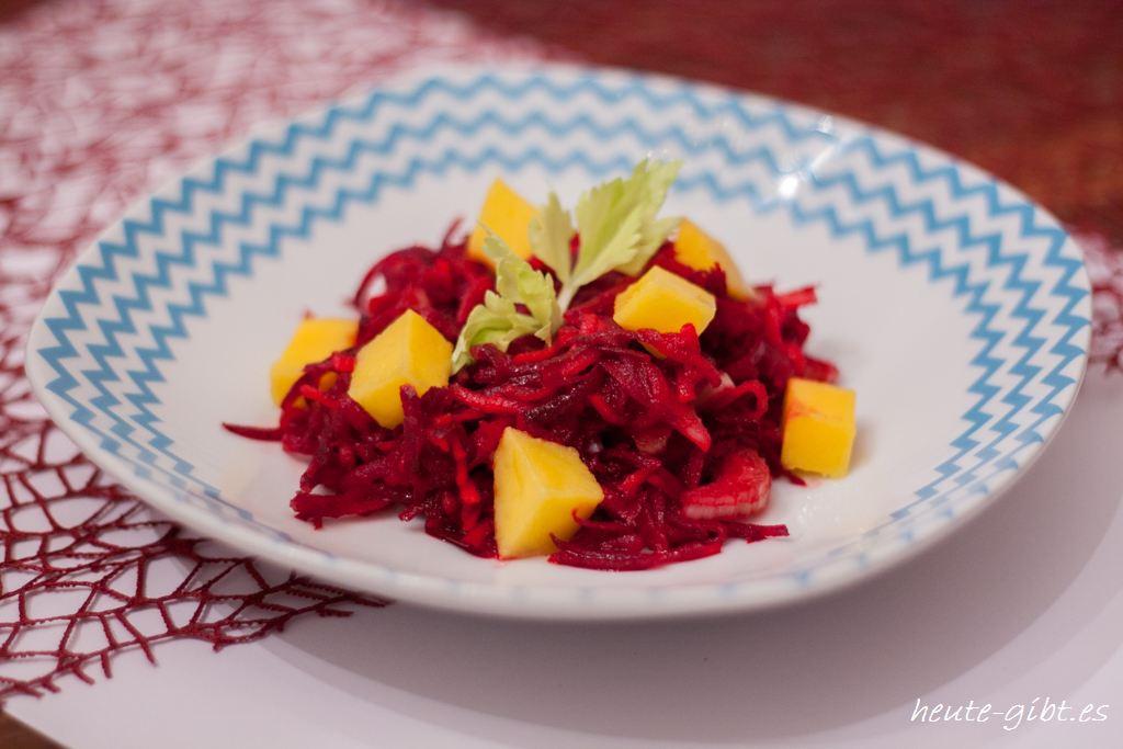 Rote-Bete-Salat mit Mango