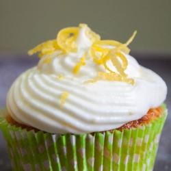 ZItronen-Cupcake