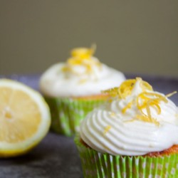 Cupcakes with lemon