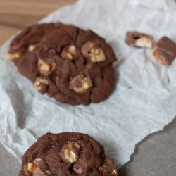 Schokoladige Cookies with Snickers