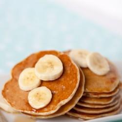 Pfannkuchen mit Bananen