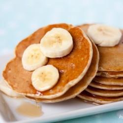 pancakes con banane