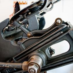 Druckerpresse-Ausschnitt