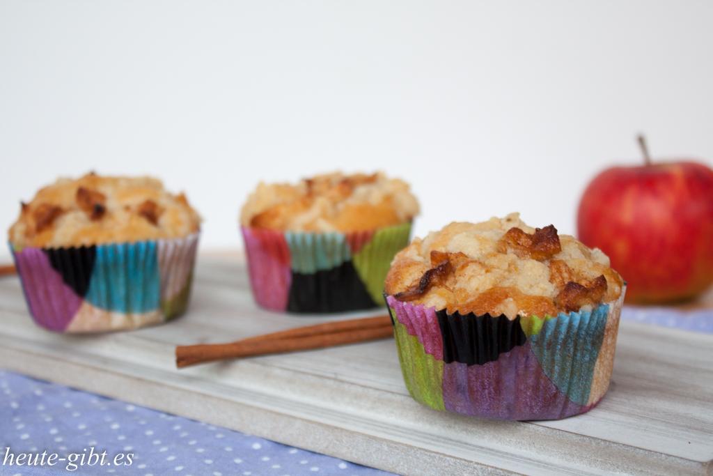 Apfel-Zimt-Muffins mit Streuseln