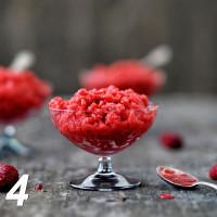 Erdbeer-Himbeer-Sorbet mit Prosecco