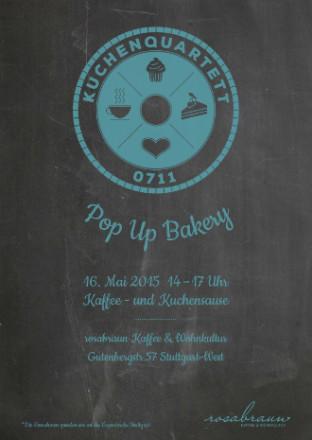 Kuchenquartett 0711 Pop Up Bakery - rosabraun