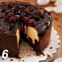 Cioccolato e cheesecake mora