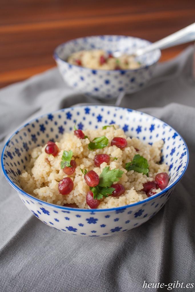 Quickly prepared: pomegranate couscous