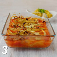 Fenchel mit Tomatensoße aus dem Ofen