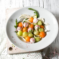 Melons and fennel salad