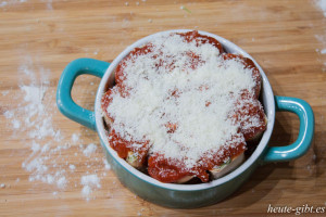 Überbacken mit Parmesan
