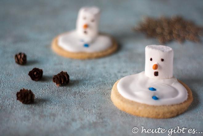 Schmelzende Schneemann-Kekse