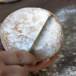 Muffuletti - scrape flour