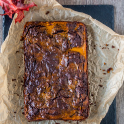 Marmorizzata Zucca Brownies | brownies zucca