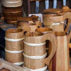 brocche di legno mercato medievale di Esslingen