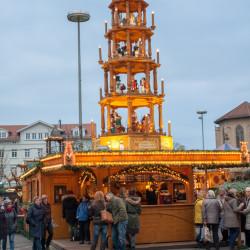 Wooden pyramid Christmas market Esslingen