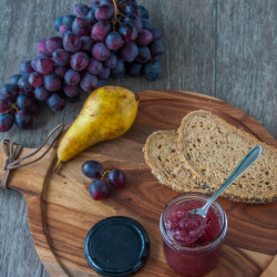 Jam pears and grapes