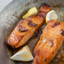 Salmon with brown butter