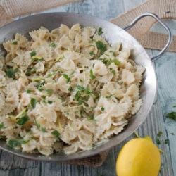 deliziosa pasta con salsa al limone