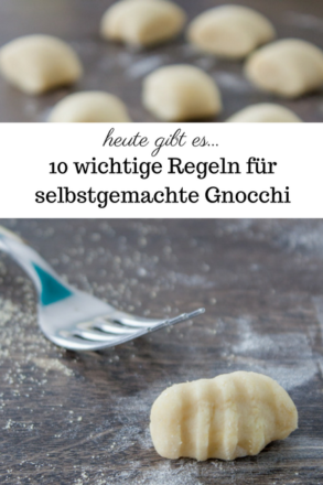 10 important rules for homemade gnocchi