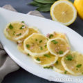Leichter Salat mit Zitronen aus Italien. Dieses sommerliche Gericht wird auf Sizilien beim Grillen oder für ein leckeres Menü serviert. Das Rezept gibt es auf www.heute-gibt.es