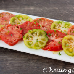 Italian salad with tomatoes Marinda. Easy and quick to prepare. Recipe on www.heute-gibt.es
