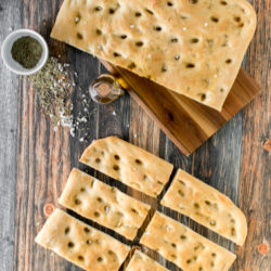 Focaccia: Italian flatbread with rosemary