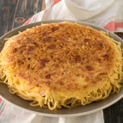 Frittata di spaghetti: noodle omelet as leftovers for pasta