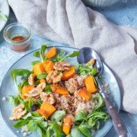 Rezept Kürbissalat mit Couscous einfach und schnell zubereitet