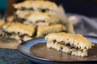 Rezept für einen italienischen Reiskuchen mit Pilzen. Perfekt für Buffets, als Fingerfood oder als Vorspeise für ein Menü. Ideal auch als Meal Prep.