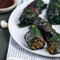 Mangold-Päckchen mit vietnamesischem Hackfleisch Rezept